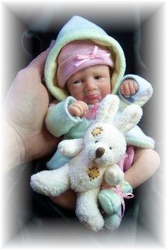Pouty. Polymer clay doll