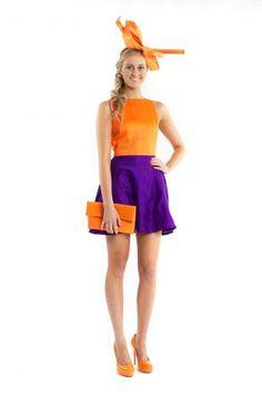 Vaticia Purple and Orange Shift Dress