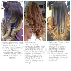 The Difference Between Ombre, Balayage And Balayage Ombre @ns3hawaii Very  Helpful To Know