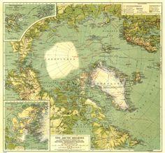 Arctic Regions Map (1925)