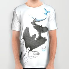 #alloverprint #tshirt #birds #shadow #clothing #fly