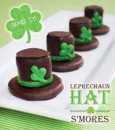 Leprechaun Hat S'Mores. These look so good. And easy!
