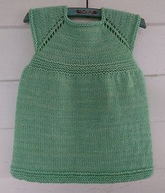 Sweet Little Dress. Free pattern. Top down. Quick knit. Lots of options possible!