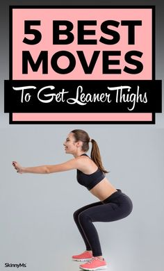 Getting leaner thighs is about more than just squatting heavy weights. You should also use moves that tone the thigh without bulking it up. This is why we recommend these 5 moves to get leaner thighs. Lean Thighs, Reduce Thighs, Slimmer Thighs, Burn Thigh Fat, Leg Training, Get Lean, Skinny Ms, Fit Girl Motivation, Thigh Exercises