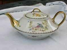 limoges teapot | Limoges Teapot - Rouen Spray