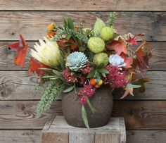 Proteas and succulent mix