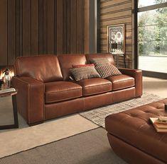 Natuzzi editions B858 Top Grain Natural Leather
