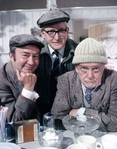 "Last of the Summer Wine (BBC) ""Clegg ( Peter Sallis), ""Foggy"" (Brian Wilde) and ""Compo"" (Bill Owen)"