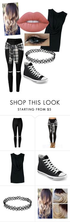 """My Style!"" by bluepenguin730 ❤ liked on Polyvore featuring Ann Demeulemeester, Converse and Lime Crime"