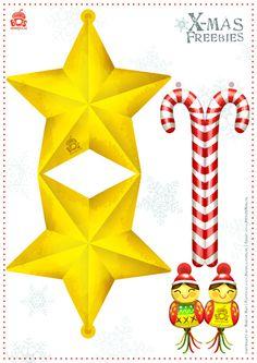 Freebies – Christmas ornaments | Miriam Bos – illustration & Surface Pattern design