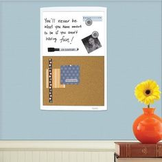 Quartet Dry Erase Combination Board Magnetic 11 X 17 Inches White Frame #Quartet