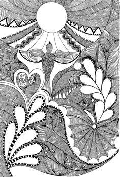 easter bird doodle