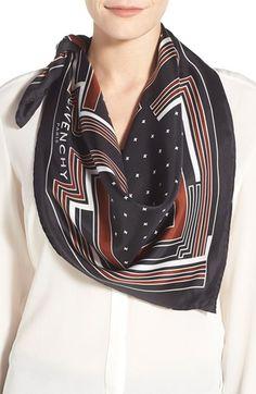 Givenchy Geometric Print Silk Scarf | Nordstrom