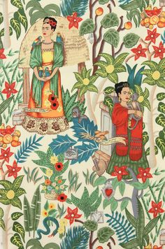 I feel some cushion making coming on. Alexander Henry Fabric Frida's Garden