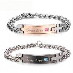 Jeulia Couple's Lovely Titanium Steel Bracelets