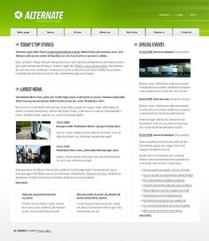 Next Alternative Website Templates by Di