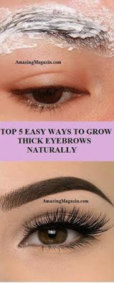 TOP 5 EASY WAYS TO GROW THICK EYEBROWS NATURALLY... #skin#diet#health#weightloss#fitness#beauty#hair#workout#health #fat #weight #fitness #beauty
