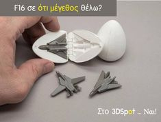 Surprise Egg - Tiny Jet Fighter by agepbiz - Thingiverse 3d Printing Companies, 3d Printing Diy, 3d Printing Service, Printing Process, 3d Printer Projects, 3d Projects, Project Ideas, Diy 3d Drucker, Color 3d Printer