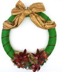 Christmas Wreaths Crafts, How to Make a Wreath | AllFreeChristmasCrafts.com
