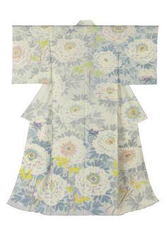 中町博志作 本加賀友禅訪問着「ぼたん」  Kaga-Yuuzen Kimono By Hiroshi Nakamachi