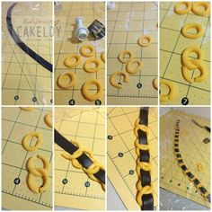 Tutorial - creating a fondant chain leather strap for Chanel handbag cake Bolo Chanel, Chanel Cake, Fondant Tips, Fondant Tutorial, Fondant Bow, Fondant Flowers, Fondant Cakes, Fondant Butterfly, Cake Icing