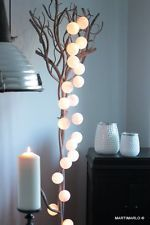 Cotton Ball Lights-   Lichterkette mit Baumwollkugeln 20er - weiß- white