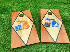 Detroit Lions and Tigers Cornhole boards