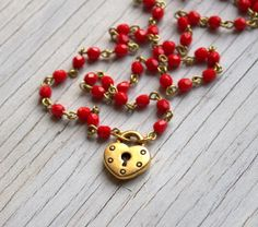 Valentine Day Jewelry Heart Valentine Jewelry Necklace by ViaLove