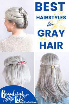 Short Silver Hair, Silver Grey Hair, Short Grey Hair, Grey Bob Hairstyles, Short Hairstyles Over 50, Cool Hairstyles, Growing Out Short Hair Styles, Gray Hair Growing Out, Curly Hair Styles