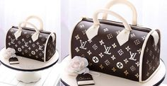 Louis Vuitton handbag cake by Bake-A-Boo Cake Design