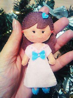 #piccolidettagli #pannolenci #feltro #felt #cucitoamano #handmade #11cm #creatodame Mini doll altezza 11 cm