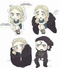 Jon Snow and Daenerys