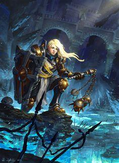 Female Crusader - Diablo III: Reaper of Souls by Vablo.deviantart.com on @deviantART