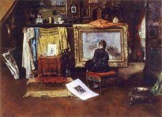 The Inner Studio, Tenth Street, 1881 ~ William Merritt Chase ~ (American: 1849-1916)