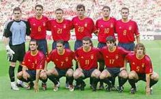 Spain team group at the 2002 World Cup Finals.