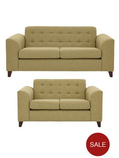 Biscay 3-Seater + 2-Seater Fabric Sofa Set (Buy and SAVE!) | very.co.uk