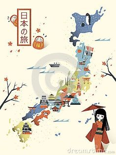 TOURIST ATTRACTIONS MAP IN JAPAN | Map Of Images | 日本に行く ...