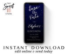 Quinceanera Save The Date Text Message Invitation, Elegant Night Sky & Stars e vite, SMS Invite Temp Text Message Invitations, Elegant Invitations, Boyfriend Texts, Boyfriend Quotes, Gemini And Aquarius, Capricorn, Sweet Text Messages, Teen Dictionary, Guy Best Friend