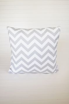 Cushion Grey Chevron
