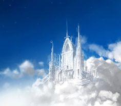 A pretty castle in the clouds