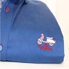 Camisa lisa azul La Vespita