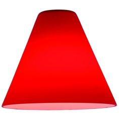 Access Lighting Red Conical Glass Shade - 1-7/8-Inch Fitter Opening   23104-RED   Destination Lighting