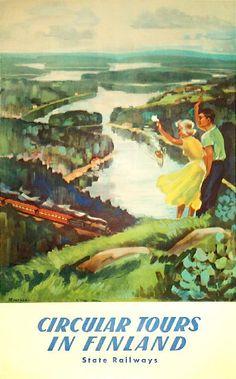 Vintage finland poster