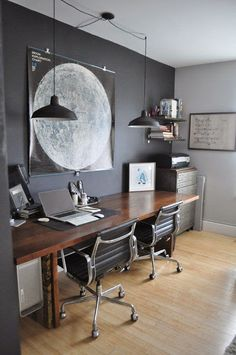 Small Home Office Design Ideas Small Home Office Decorating Ideas! Your Guide to Creating the Home Office of Your Dreams Small Home Office Design Ideas. Having only a small space to work with has i… Home Office Space, Office Workspace, Home Office Design, Home Office Decor, Office Furniture, House Design, Home Decor, Office Ideas, Workspace Design