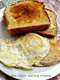 Fried eggs and toast #Egg #Breakfast