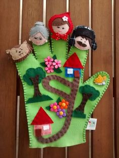 Wonderful ideas to tell stories in class, easy to make and very fun, DIY and Crafts, Wonderful ideas to tell stories in class, easy to make and very fun - Educational Images. Felt Puppets, Felt Finger Puppets, Felt Diy, Felt Crafts, Diy And Crafts, Sewing For Kids, Diy For Kids, Crafts For Kids, Finger Puppet Patterns