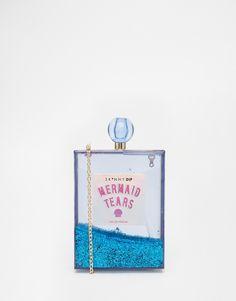 Bild 1 von Skinnydip – Mermaid – Boxförmige, blau glitzernde Tasche