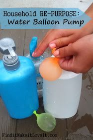 Find it, Make it, Love it: Household re-purpose: water balloon pump from large shampoo bottles