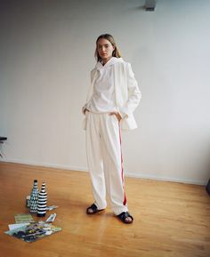 Model Maya Stepper shares an insider peek at a typical day in Brooklyn—and how she dresses the part in Birkenstocks. Williamsburg Apartment, Maya Stepper, Silk Slip, I Love Fashion, Color Pop, Brooklyn, Normcore, Vogue, Day