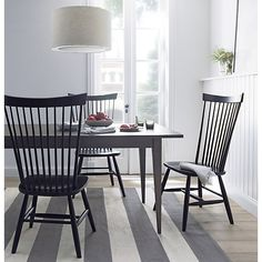 Marlow II Black Side Chair / Crate and Barrel ( painting our kitchen chairs! Dining Room Furniture, New Furniture, Outdoor Furniture Sets, Shaker Furniture, Furniture Refinishing, Furniture Ideas, Extension Dining Table, Dining Area, Dining Tables